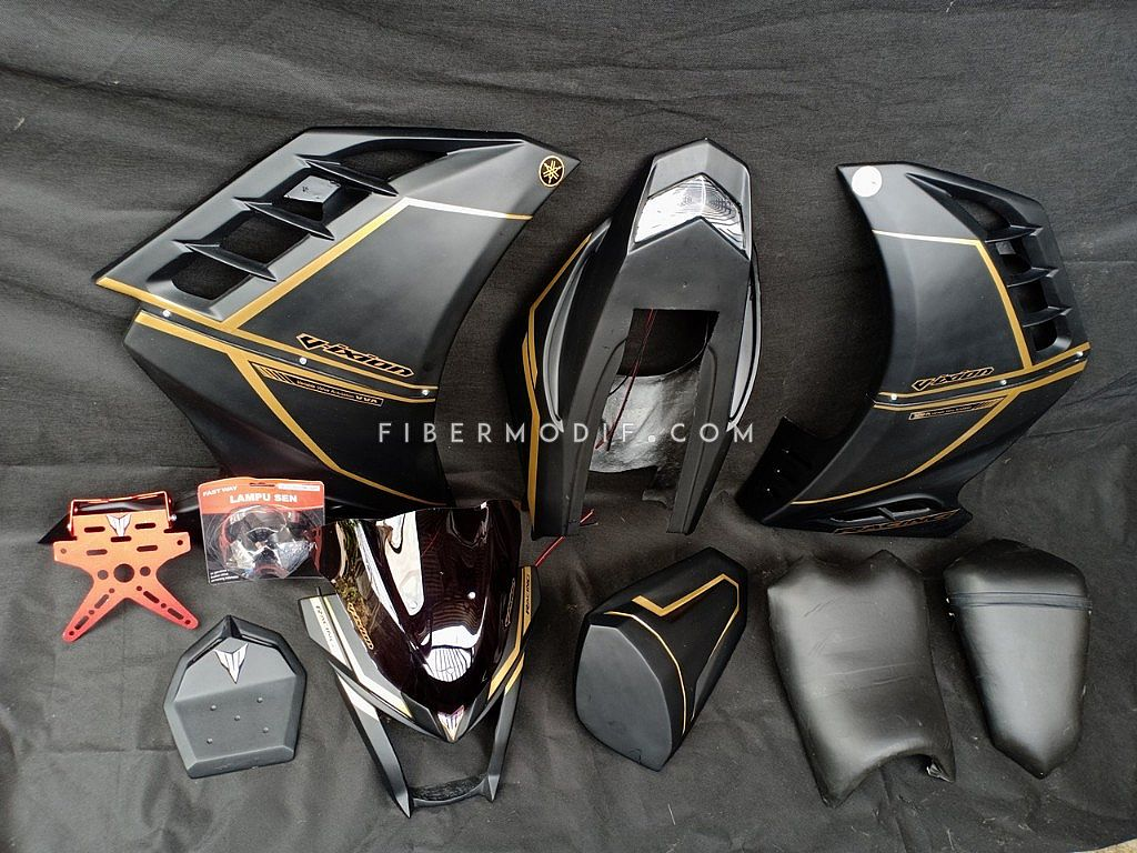 Golden Striped Variasi All New Vixion (Topeng + Fairing + Body Custom)