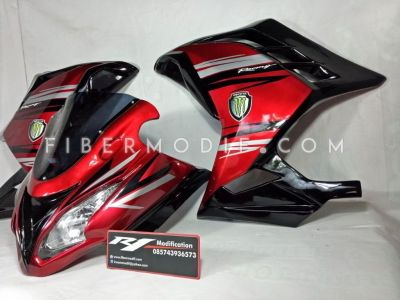 Fairing Ninja 250 FI Red Racing Monster Energy