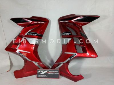 Half Fairing Verza model Ninja 250 FI Black Red 5zigen