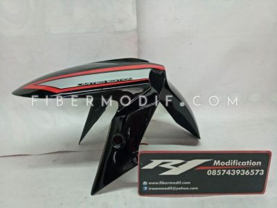 Slebor Depan model Ninja 250 Universal Motor Sport Black Gloss Red Grey