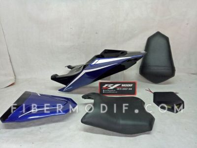 Body Belakang All New Vixion R Deep Blue Gloss White Lis