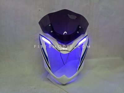 Cover Headlamp Verza 150R White with Black Blue Lis Alis LED