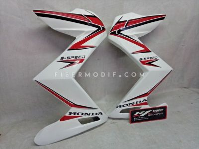 Half Fairing Old CB150R model Z Gloss White with Red Black Lis