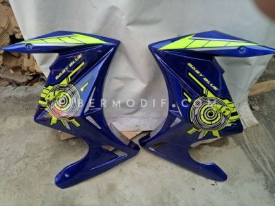 Half Fairing Vixion Advance-Lightning Deep Blue Baby Blue Rossi