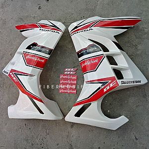 Sayap Verza 150 - White Red City - Custom Sticker Ghant Chant
