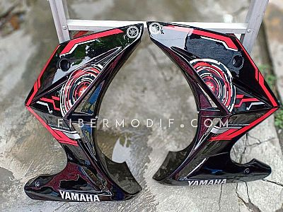 Fairing All New Vixion R model Z Digital Sunmoon Black Gloss