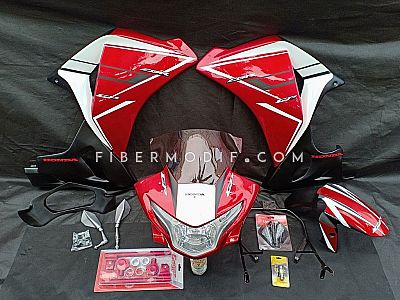 Fairing model CBR150R CBU Universal Red White GP Gloss
