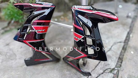 Fairing Verza 150 Black Gloss Red Strip Limited Edition