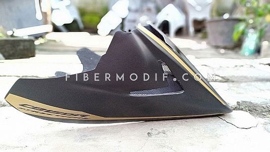Undercowl model Universal for CB150R Black Matte Gold Striped