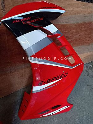 Fairing All New Vixion model Ninja 250 FI Red Gloss Big Gray Black Strip 6 Speed