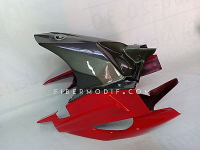 Hugger - Cover Swing Arm CB150R New Authentic Gloss Deep Silver - Red