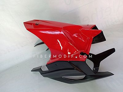 Hugger - Cover Swing Arm New CB150R Black Red Simple Tone