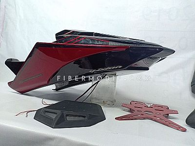 Body Belakang Custom All New Vixion  Vixion R Red Black Gloss Striped