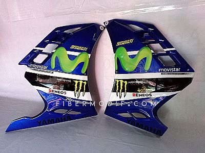 Half Fairing All New Vixion model FI - Deep Blue Movistar GP Sponsor Style