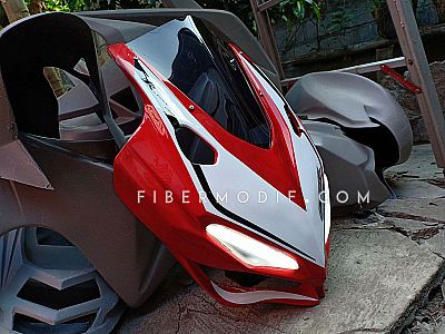 Cover Headlamp CBR150R 2016 Red White V Lis