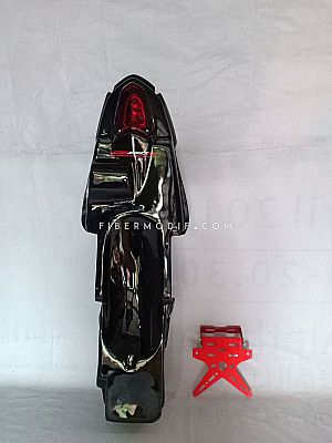 Topeng + Undertail Old CB150R - Black Gloss Red Striped
