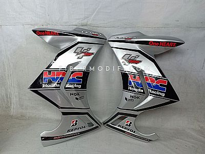 Sayap Verza 150 model FI - Silver Gloss n Black Strip HRC MotoGP